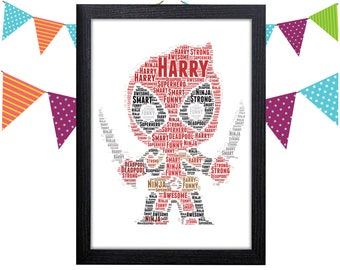 Personalized Gift Deadpool Gifts Wall Art Wall Prints Wall Art Wall Decor Gift For Him Personalised Gift Wall Art Prints Deadpool Poster