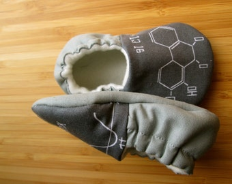 Baby math Clothes,Baby shoes,Tula accessories, vegan shoes,Chemistry Baby, Math teacher,Science Major, Modern baby, grey baby shoes
