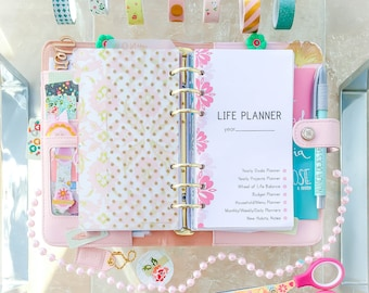Personal Planner Filofax Insert Printable LIFE PLANNER 2018 3.7x6.7 Daily Weekly Monthly Budget Color Crush Insert Instant Download 80 pages