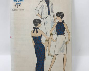 Vogue 6769 vintage pattern 1960s / size 16 bust 36 blouse skirt and jacket / retro 1960s pattern /