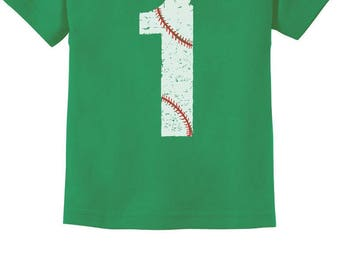 Baseball 1st Birthday Gift for One Year old Infant Kids T-Shirt