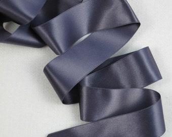 3Y Slate Gray Satin Ribbon 1.5 inch wide