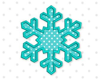 Schneeflocke Applikation Maschine Stickerei Design neues Jahr gefroren 3 Größen 4 x 4, 5 x 7 6 x 10 CHR060