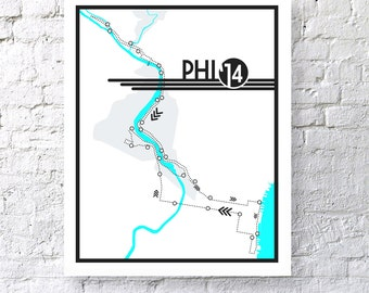 2014 Philadelphia Marathon Digital Print