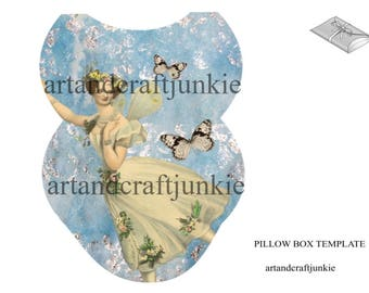 Printable Fairy Pillow Box Favor Box Gift Box