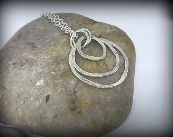 """Organic Circles - Sterling Silver Kinetic 18"""" Necklace"""