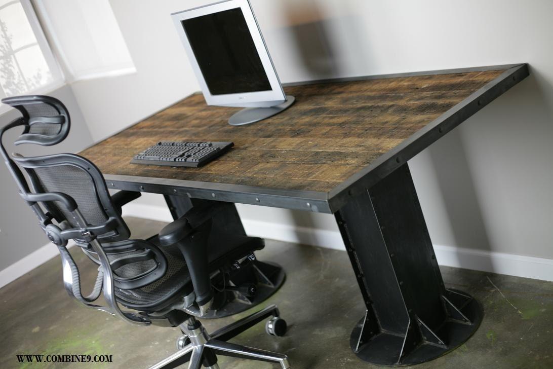 rustic wood office desk. 🔎zoom Rustic Wood Office Desk E