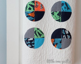 Mod Circle Memory Quilt | Baby Clothes Quilt | Modern Memory Quilt