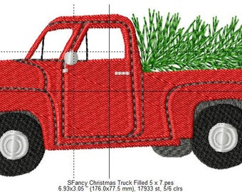 SFancy Christmas Truck Filled 5 x 7