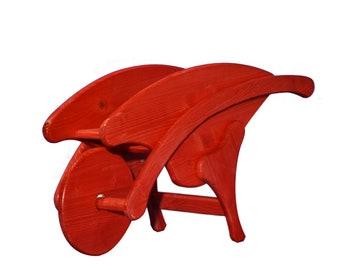 carriola portafiori rossa