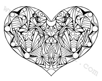 Coloring Page (Heart 2)