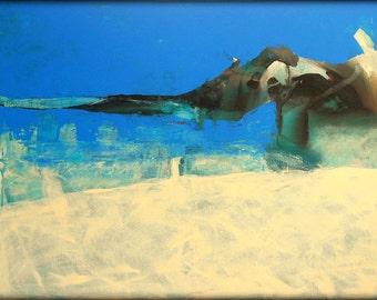 Original Art  Handmade  Abstract Painting-Free Shipping-Large Abstract Painting- Blue-Abstract Blue Painting-Energy Blue Canvas
