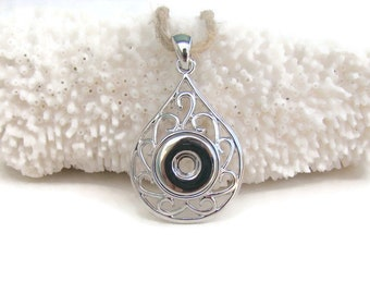 MINI 12 mm, noosa style, snap charm button pendant for interchangeable snap jewelry brands, like ginger snaps and magnolia and vine
