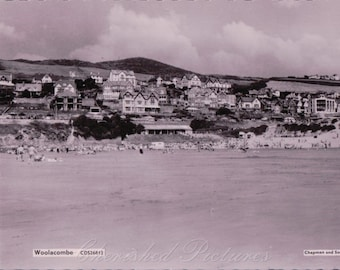 Woolacobe, Devon. B&W Real Photograph Postcard  ~  Not Posted. 1969
