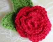 Flower broach. Crochet ro...