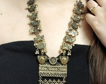 Indian Jewelry, traditional Jewellery,high quality German Silver necklace