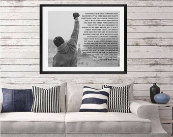 Rocky Balboa, Rocky, Boxing, ROCKY quote, boxing speech, Inspirational Wall art, rocky balboa quote, inspiration quote print, man wall art