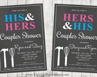 Couples Shower Invitation, Printed, Affordable and Top Quality! Fast Turnaround!