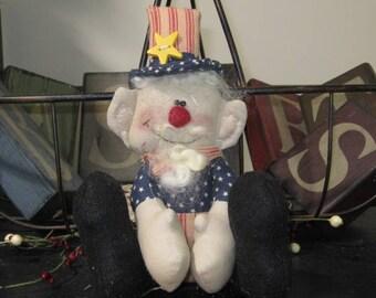 Uncle Sam Doll, Uncle Sam Shelf Sitter, Patriotic Shelf Sitter, Patriotic Doll, Americana Decor, Holiday Decor, Patriotic Decor, FAAP