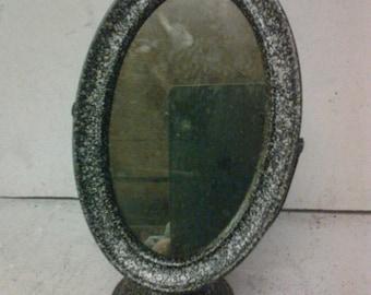 tin makeup mirror