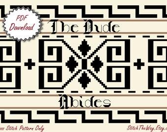 The Big Lebowski Cross Stitch Pattern - PDF Download