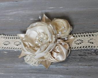 Vintage Corsage Wedding  Ivory Corsage Wrist Corsage Mothers Corsage Prom Corsage Wristlet Corsage Wedding