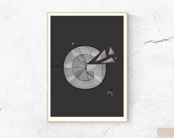 G type print, Illustrated letter, Lord of the flies, William Golding, Black and White Wall Art, Drop cap, Letter print, Gift for Book Lovers