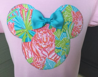 Easy Tiger Lilly Minnie with Aqua Bow