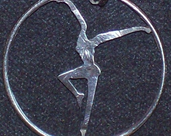 Dancer Hand Cut Coin Jewelry