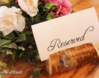Rustic Wedding Card Stand Reserved Table Numbers Place Setting Business Card Holder