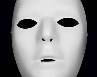 Blank Male Mask - White