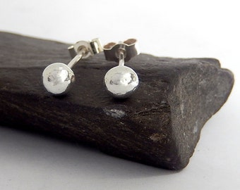 Jewellery, Silver, Stud, Earrings , Silver stud earrings, recycled silver pebble stud earrings, sterling silver