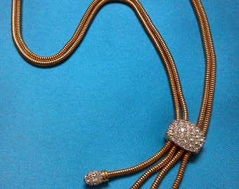 Authentic Swarovski necklace. 18k gold-plated and Swarovski crystal. Vintage Swarovski Necklace