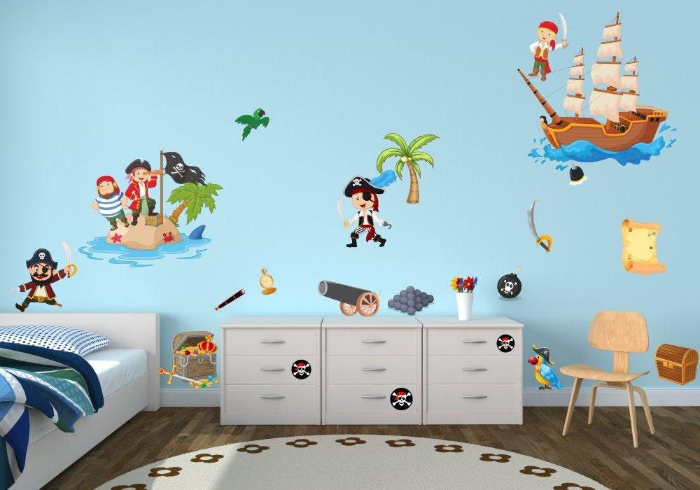063 wandtattoo pirat kapit n schiff insel schatz skull insel. Black Bedroom Furniture Sets. Home Design Ideas