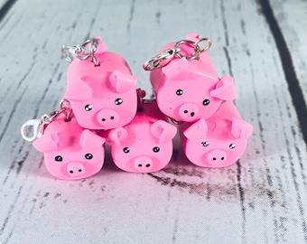 Pig charm | Pig Charm Necklace, Pig Necklace, Pig Charm, Pink Pig Necklace, Pink Pig, Pigglet, Piggie Charm, Necklace, Farm,