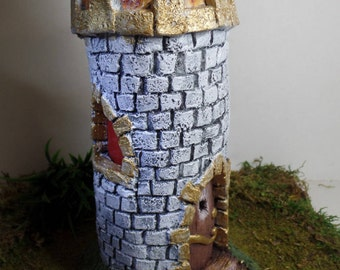 Castle Fairy Garden House Miniature Castle Miniature Fairy Accessory Outdoor Garden Art Indoor Fairy Garden Medieval Fantasy Castle