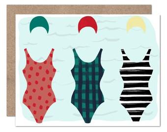 Retro Swimmer Card