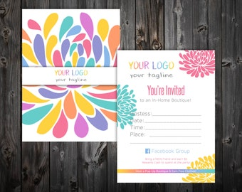 "Pop-Up Boutique Party Invitations 4x5.5"" Postcard - Blossom"