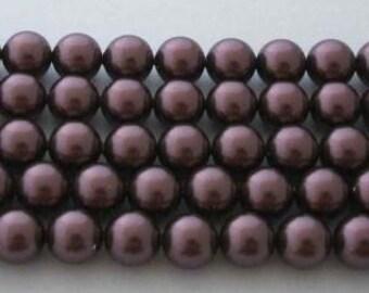 SWAROVSKI Crystal Pearl Beads 5810 BURGUNDY