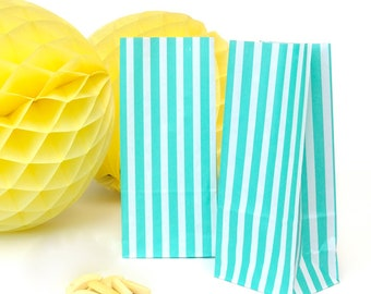 Tall Striped Paper Bags Party Accessory for Wedding Favours, Children's Party Bags and Gifts