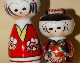 Vintage Porcelain Japanese Salt & Pepper Shakers, 48D
