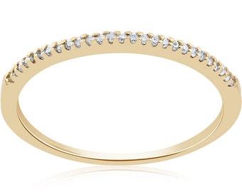 Diamond Wedding Ring 14k Yellow Gold 1/10ct Diamond Wedding Ring 14k Yellow Gold