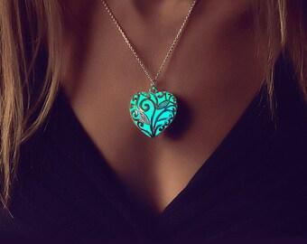 Mutter Geschenk - Schmuck - Kette - Herz Halskette - Jahrestagsgeschenk - Geschenk für Frauen - Leuchten Schmuck - Geschenke für sie - einzigartiges Geschenk