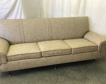 New Mid Century Sofa, Retro Sofa, Atomic Age Couch, 1950's Style Davenport