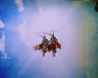 Morning light earrings