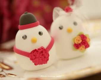 Chinese style wedding love birds,bride and groom wedding cake topper