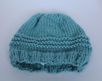 Blue Striped Crochet Toddler Hat