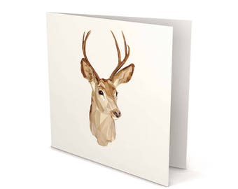 Deer Greeting Card, Deer, Deer card, Greeting Card, Square Card, Blank card