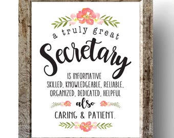Secretary | Etsy