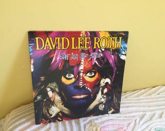 David Lee Roth Eat Em and Smile Vinyl Record album NEAR MINT CONDITION
